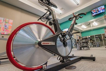 24-Hour Fitness Center at Griffis Lakeline Station apartments in Austin
