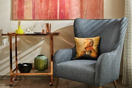 Close-up of cozy sitting area in a Griffis Residential North Creek apartment home.