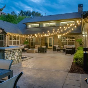 Griffis North Creek Outdoor Lounge at Dusk 1200x800