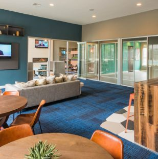 Modern Lounge Area in Austin Apartment Clubhouse - Griffis Lakeline Station