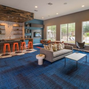 Griffis Lakeline Station Apartment Clubhouse Modern Lounge Area in Austin