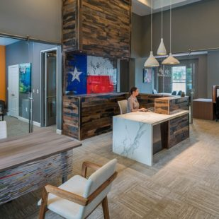 resident clubhouse at Griffis Lakeline Station in Austin