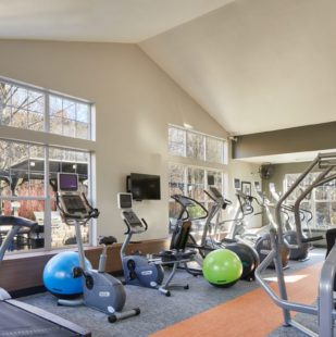 24-Hour Fitness Center and Yoga Room at Griffis North Creek Apartment Community