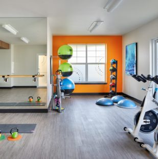 Griffis North Creek Apartment Community 24-Hour Fitness Center and Yoga Room