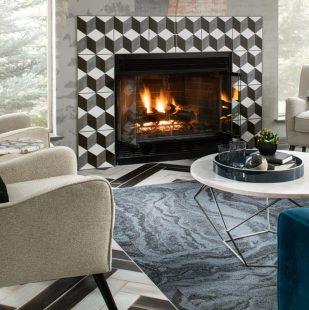 Cozy Fireplace in Sagebrook Apartment Clubhouse