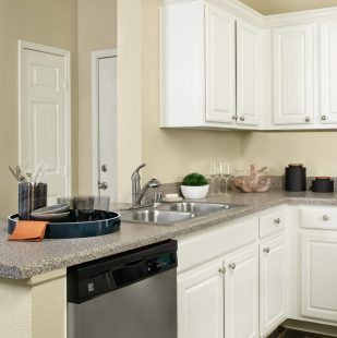 kitchen with stainless steel appliances at Griffis Sagebrook apartments in Colorado Springs