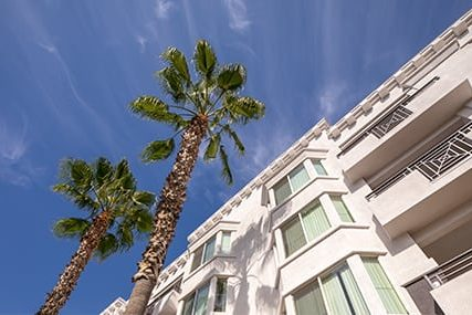 balcony apartments at Griffis Pine Avenue in Long Beach