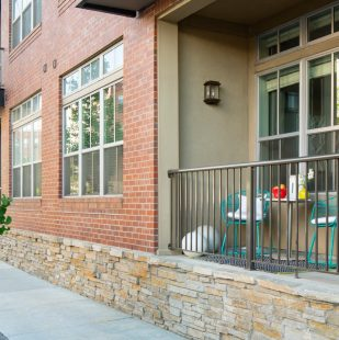 Private Balcony at Griffis North Union Apartment Homes in Denver, Colorado