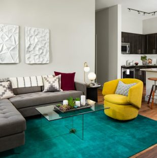 Contemporary Living Space in Downtown Denver Apartment - Griffis North Union