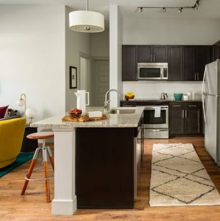 Graphite Countertops with Stainless Steel Appliances at Griffis North Union