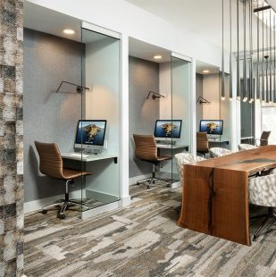Griffis Cherry Creek Renovated Business Center with Mac computer pods and private working spaces
