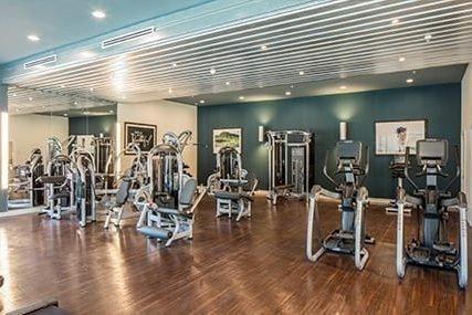 fitness center at Griffis Riata apartments in Austin