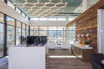 resident business center at Griffis Riata apartments in Austin