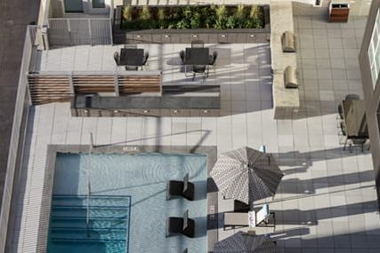 pool area at Griffis Cherry Creek North apartments in Denver