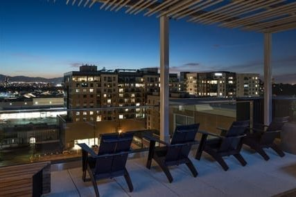 outdoor lounge at Griffis Cherry Creek North apartments in Denver