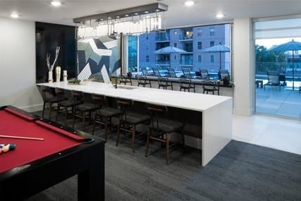 indoor lounge at Griffis Cherry Creek North apartments in Denver